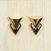 Black and Gold Trilogy Earrings