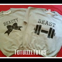 Free US Shipping  Fast Processing Beauty And Beast Inspired Couples T SHirts and/or Tanks for the Perfect Couple