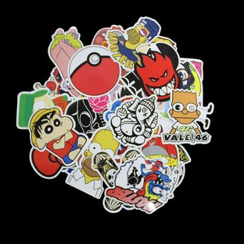100Pcs Pvc Different Car Styling Funny Cool Sticker Bomb Waterproof Graffiti Doodle Stickers Skateboard Decal Toy Sticker