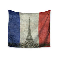 """Bruce Stanfield """" Vintage Paris"""" Mixed Media Travel Wall Tapestry"""