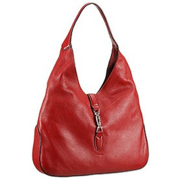 Gucci Jackie Soft Leather Hobo Red