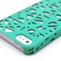 Wydan Teal Birds Nest Woven Designed Ultra Thin Hard Case for iPhone 5 5G Cover:Amazon:Cell Phones & Accessories