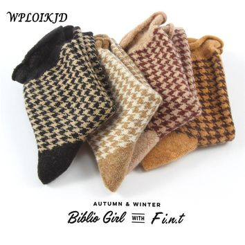 [WPLOIKJD] Winter Preppy Style Women Socks Girly Lovely Frilly Edge Socks Plaid Cotton Ruffles Socks or Women Christmas Gift