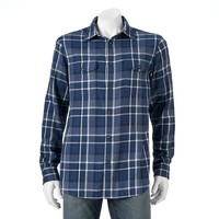 SONOMA life + style Flannel Button-Down Shirt