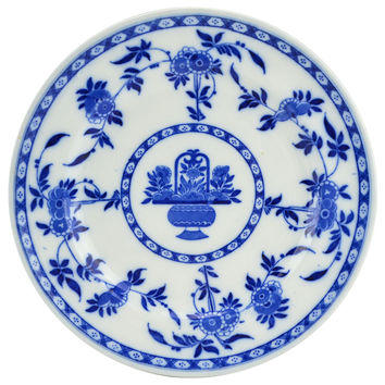 6 Blue and White Delft Dinner Plates by Minton Antique English Early 1900s