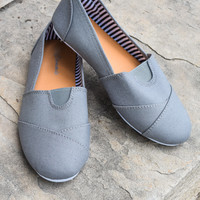 Grey Canvas Shoe