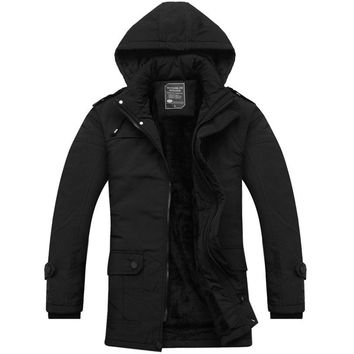 European & American Style Windproof Parkas Winter Men's Clothing Loose Fit Casual Warm Jackets And Coats For Men,1082