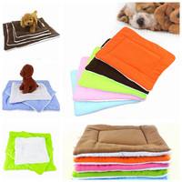 Dog Puppy Cat Mat Kennel Cage Travel Home Pad Bed Washable Fluffy Pet Cushion SYT9073