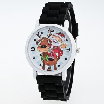 Children Christmas Fashion Wrist Watch with Silicone Strap