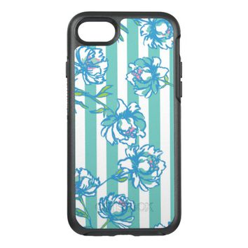 Best floral pattern green on blue for Mother's Day OtterBox Symmetry iPhone 7 Case