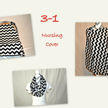 Full Coverage Nursing Cover, Nursing Scarf, Car Seat Cover by Angelivy Designs