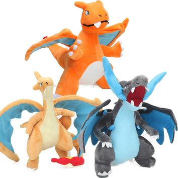 25-28cm Charizard X Y Figure Plush Toys Soft Stuffed Animal Dragon Dolls Pocket Dolls Snorlax Eevee Brinquedos Peluches bebe