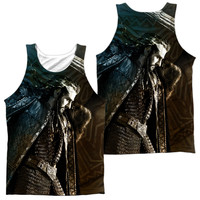 HOBBIT/KING (FRONT/BACK)-ADULT 100% POLY TANK TOP-WHITE-SM