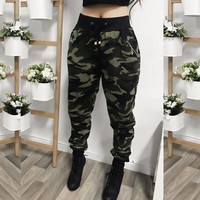 L/XL ONLY - JANE CAMO JOGGERS