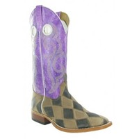 """Anderson Bean Cowboy Boots Back in Black Patchwork 13"""" Top Kids Cowboy Boots"""