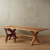 Recycled Teak Table by Anthropologie Natural