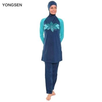 YONGSEN Muslim Swimwear Islamic Women Modest Hijab Plus Size Muslim Swim Wear Swimming Bathing Suit Beach Full Coverage Swimsuit