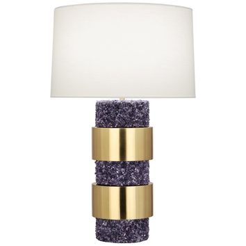 Robert Abbey Betty Brass and Polished Stone Table Lamp