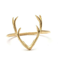 Dainty Antlers Ring - Gold, Rose Gold and Silver
