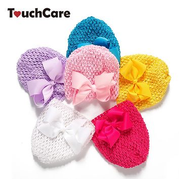 Colorful Baby Boy Girl Caps Newborn Soft Cotton Bow-knot Hat Sweet Beanie Hollow Lace Kids Hats