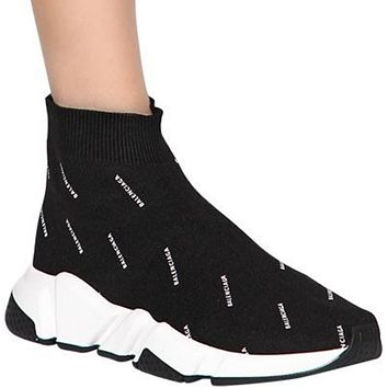 "shosouvenir  BALENCIAGA 30 mm ""SPEED"" LOGO knitted socks sports shoes"