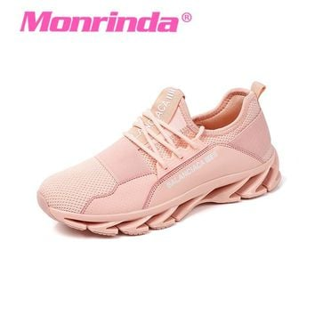 New Trend Women Running Shoes Sneakers Bow-Blade Outdoor Sports Shoes For Woman Cushioning Summer Cool Breathable Blade Shoes