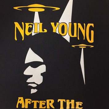 Neil Young T Shirt Inspired After The Gold Rush Crazy Horse 60s Retro