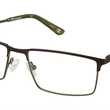 Champion 4010 58mm Brown Green Eyeglasses / Demo Lenses