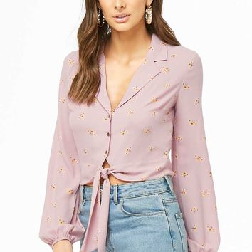 Floral Cropped Shirt