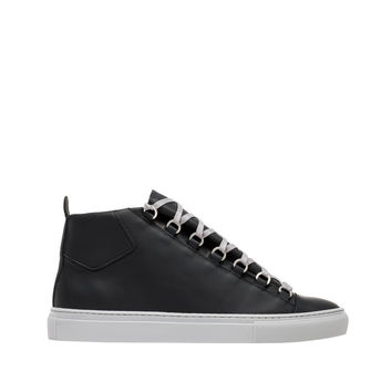 Balenciaga Holiday Collection Rubberised Calfskin High Sneakers Black - Men's Arena Sneakers