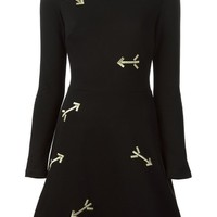 Carven arrow embroidered A-line dress