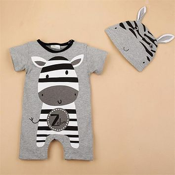 So Cute!! Baby Boy Animal Romper with Hat. Sizes 6 To 24 Months