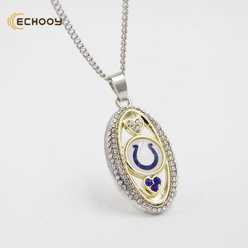 woman classic jewelry Personalized Indianapolis Colts Pendant Necklaces Custom football team logo necklace Bridesmaid Gift