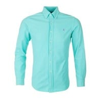 Polo Ralph Lauren Turquoise Slim Oxford Shirt - Shirts