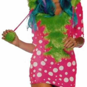 Womens Leg Avenue Melody Monster XS Sexy Halloween Costume Cosplay Dress Hood