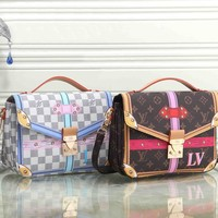 Louis Vuitton Women Fashion Shopping Bag Leather Satchel Shoulder Bag Tote Handbag Crossbody