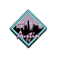 Crane City (Austin, Tx) soft enamel pin