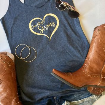 Country Strong Heart Tank Top