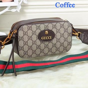 Gucci Tiger Head Camera Bag Women Waist Bag Shoulder Bag Full Color B-WMXB-PFSH Coffee