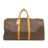 Authentic Louis Vuitton Monogram Keep All Bandouliere 55 Bag M41414 Used F/S