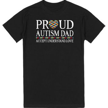 Proud Autism Dad Autism Awareness | T-Shirt | SKREENED
