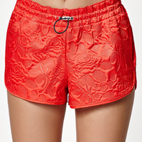 adidas Textured Floral Print Running Shorts at PacSun.com