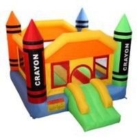 My Associates Store - Cloud 9 Mini Crayon Bounce House - Inflatable Bouncing Jumper with Blower