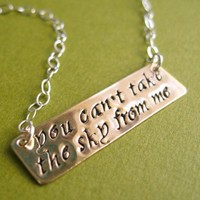 You can't take the sky Necklace | Spiffing Jewelry