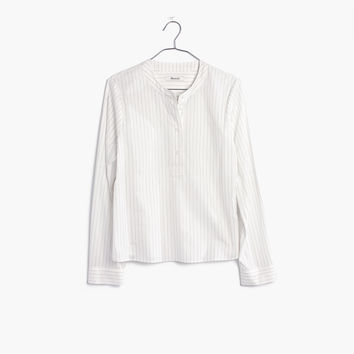 Striped Popover Shirt : shopmadewell AllProducts | Madewell