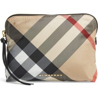 Burberry Large Check Zip Pouch | Nordstrom