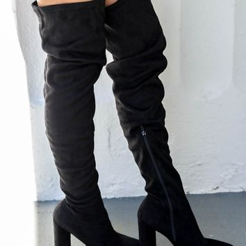 Confidence Is Key Black Thigh High Boots
