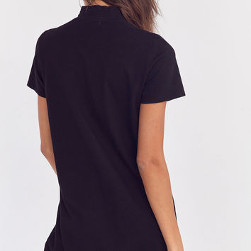 Truly Madly Deeply Mock Neck Mini T-Shirt Dress   Urban Outfitters