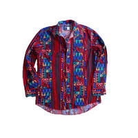 Men's Wrangler Cowboy Cut Shirt - Tribal / Aztec Striped Men's Dress Shirt - Hipster Shirt - Wrangler Cowboy Button Down
