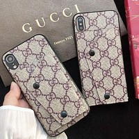 GUCCI New fashion more letter coin purse protective cover phone case